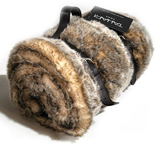 Mink Faux Fur Throw By Tahari Home Luxury Plush Blanket In Brown Awesome Tahari Throw Blanket