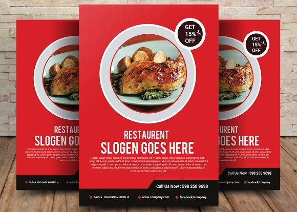 mexican restaurant flyer template by party flyers on creativemarket