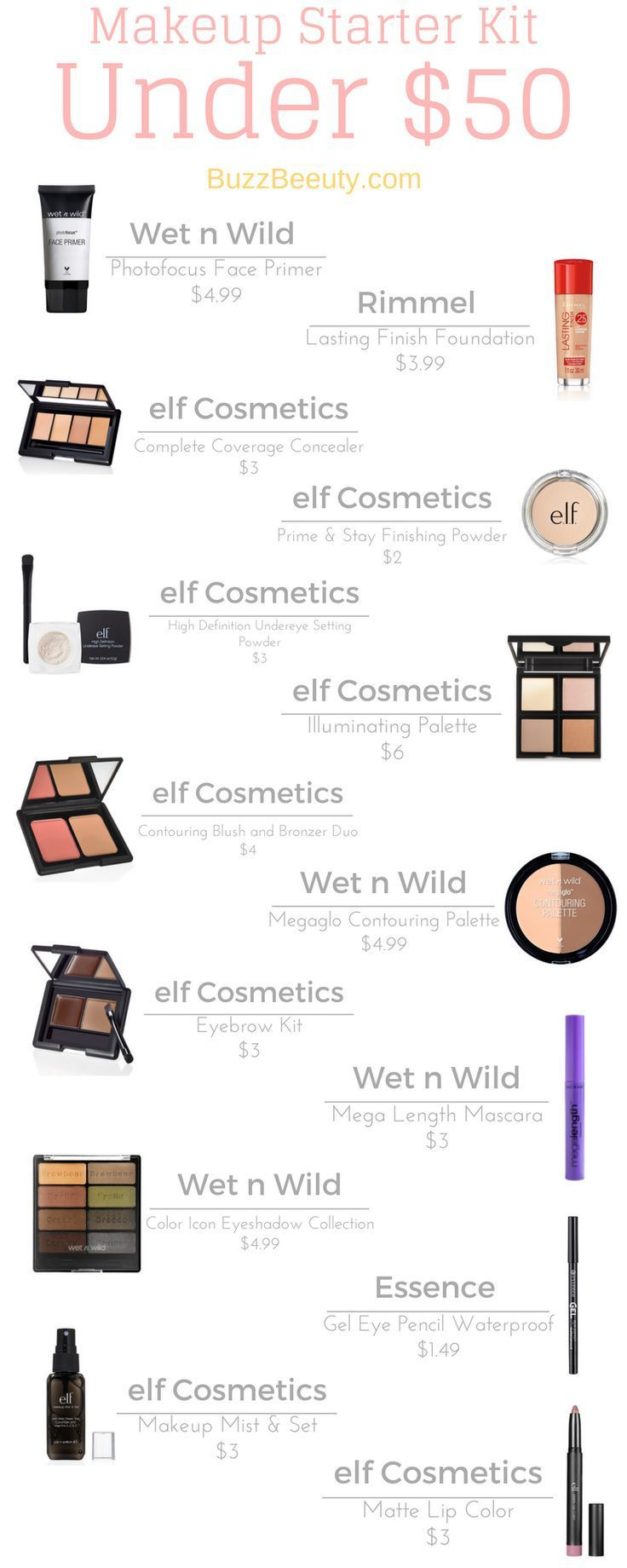 Makeup Kits On a Budget Starter Kits Under 50 and 100
