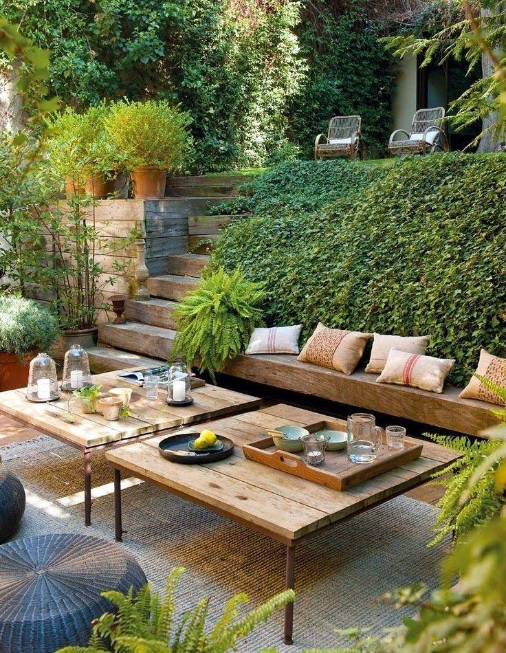 I want those tables~   Outdoor Living   Pinterest   Diseños de casa ...