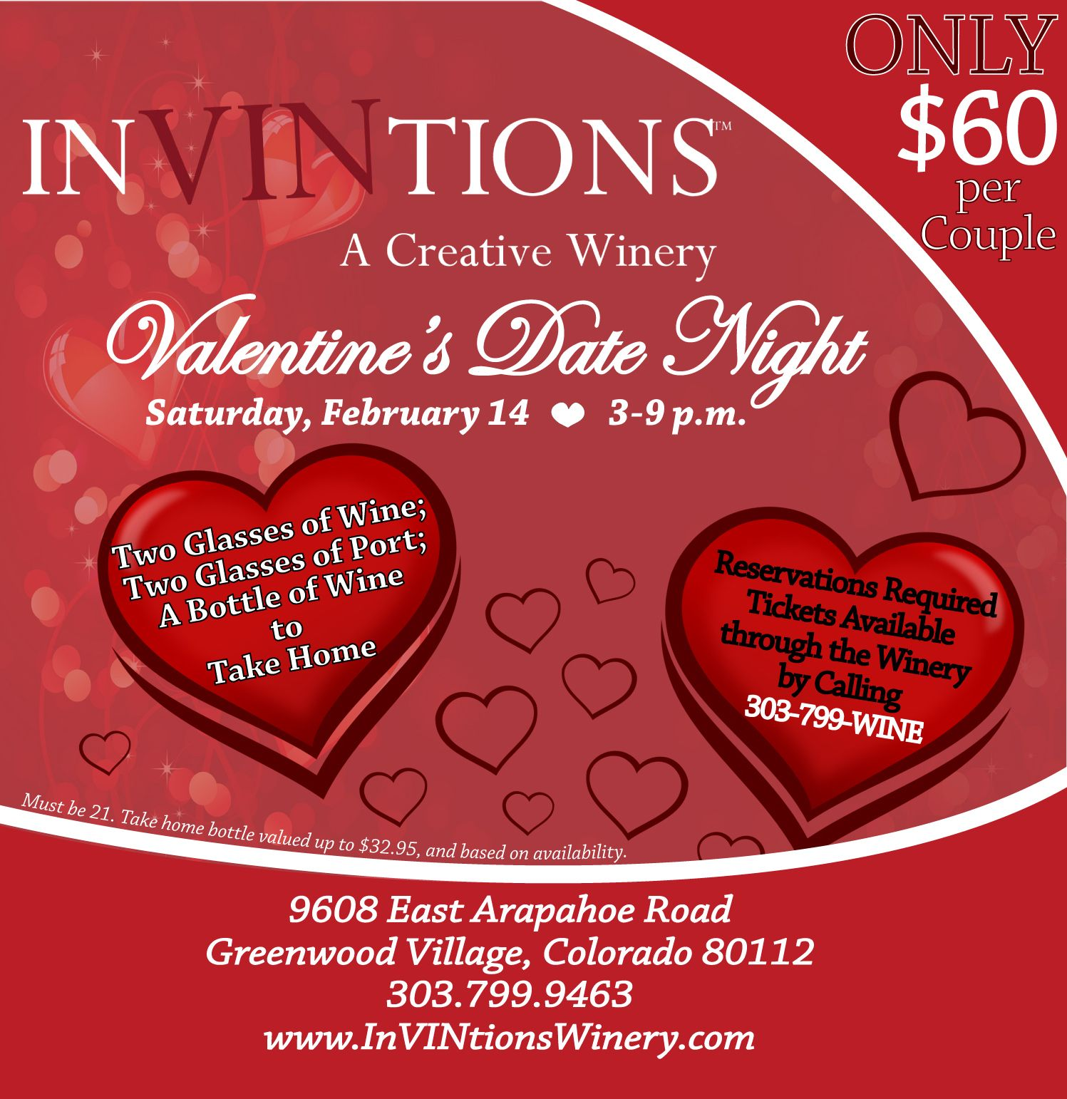 The Perfect Valentine Tired Of A Set Menu And An Overpriced Night Out On Valentine S Day Join Us At Invintions Wine Bottle One Glass Of Wine Custom Labels