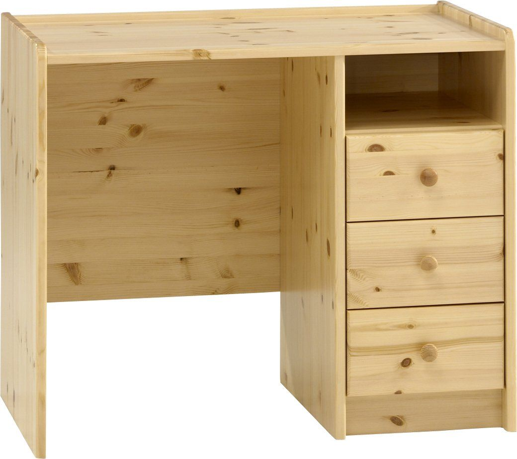 Steens Kids 3 Drawer Pine Desk Natural Oil Finish Amazon