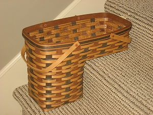 Longaberger RARE Signature Weave Step It Up Stair Step Basket And Protector  Note  I Have