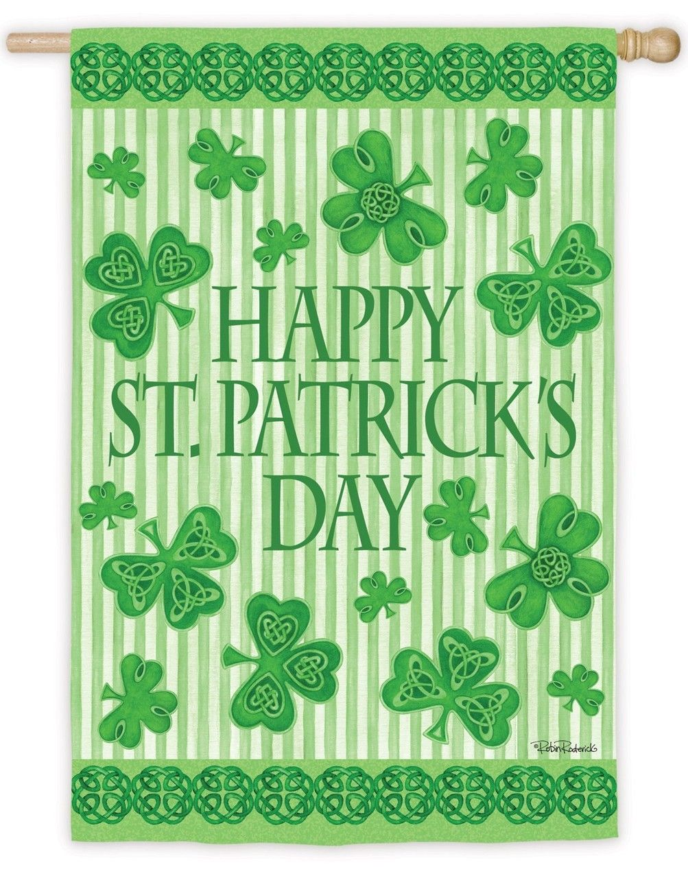 IAmEricas Flags - Happy St. Patrick\'s Day Pinstripes Suede ...