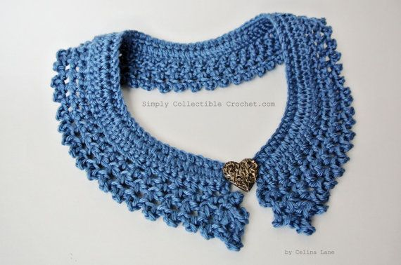 Crochet Pattern Collar Photo Tutorial And Diagram Included Large