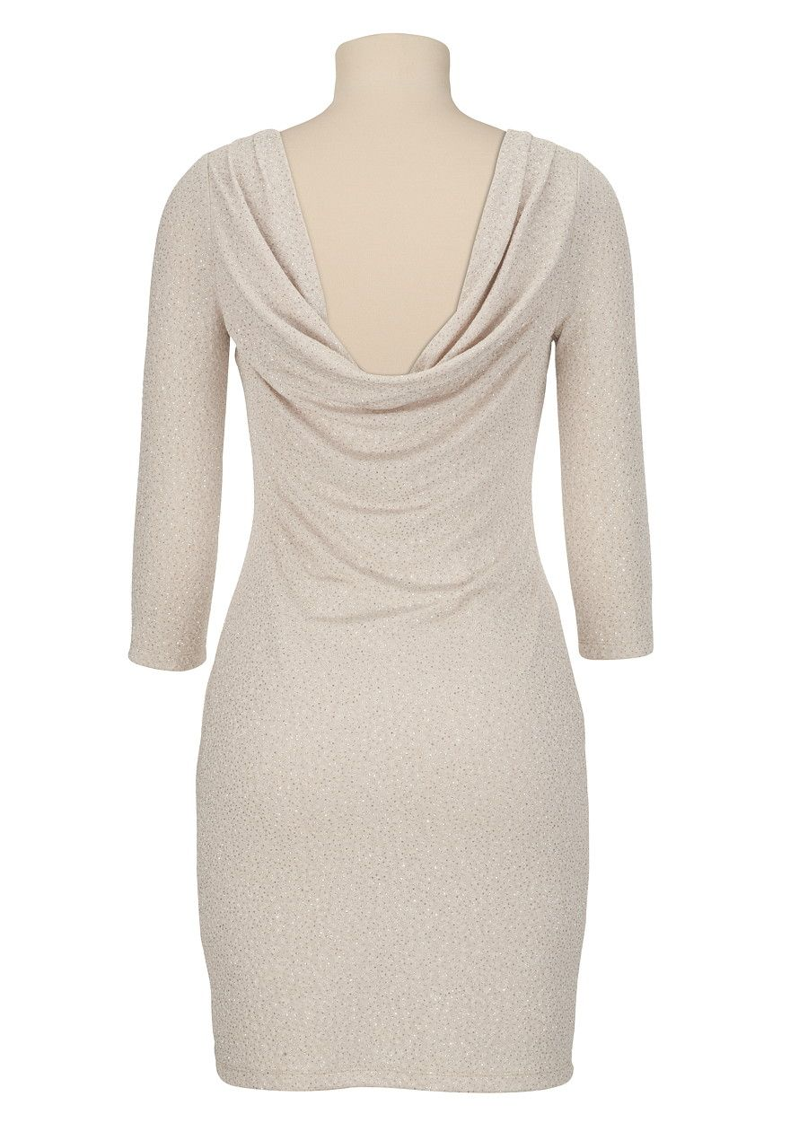 Drape Back Glitter Dress - maurices.com