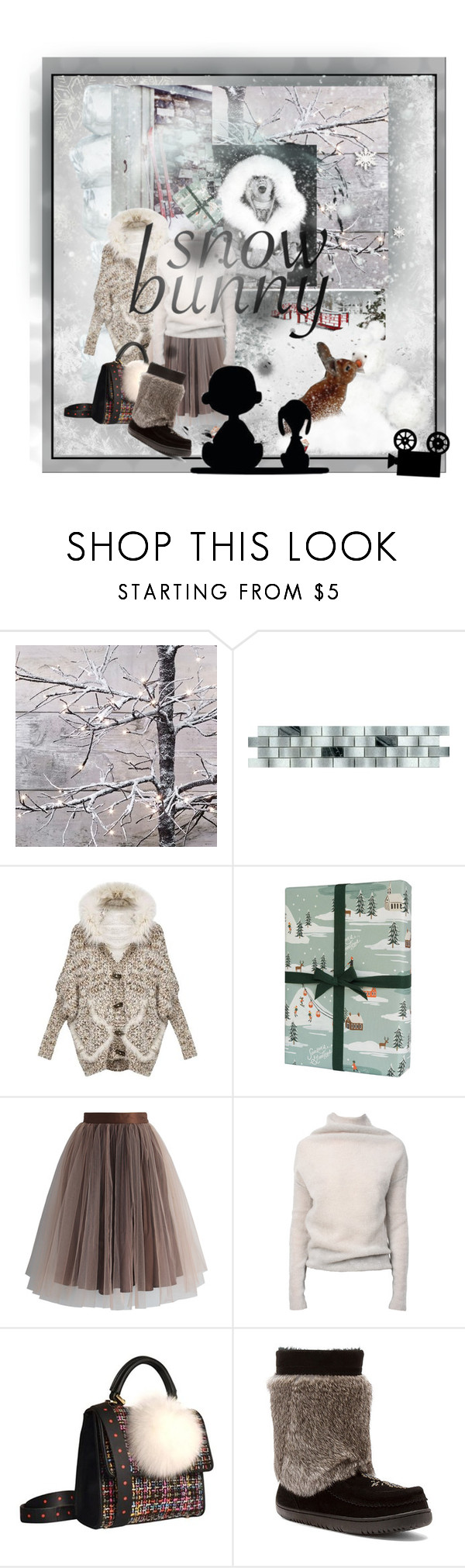 """""""snow movie"""" by vallyk ❤ liked on Polyvore featuring Rifle Paper Co, Chicwish, Rick Owens, PIKA, me you and snowbunny"""