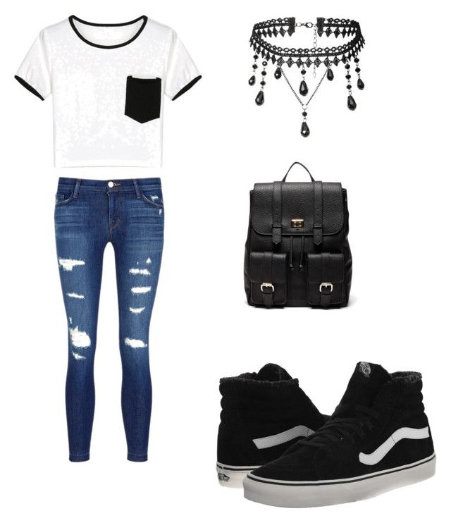 🤗 by cindyhernandez15963 on Polyvore featuring polyvore, fashion, style, WithChic, J Brand, Vans, Sole Society and clothing