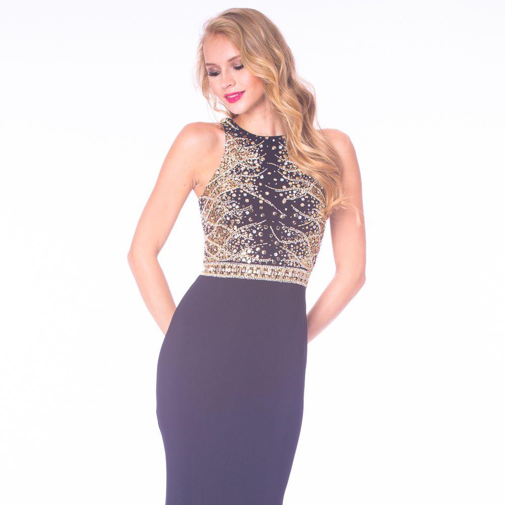 Blackgold prom dress elegant prom dress pinterest gold prom