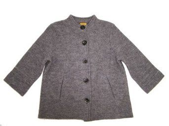 Ruby Rd Boiled Wool 3/4 Sleeve Button Down Jacket $45.99