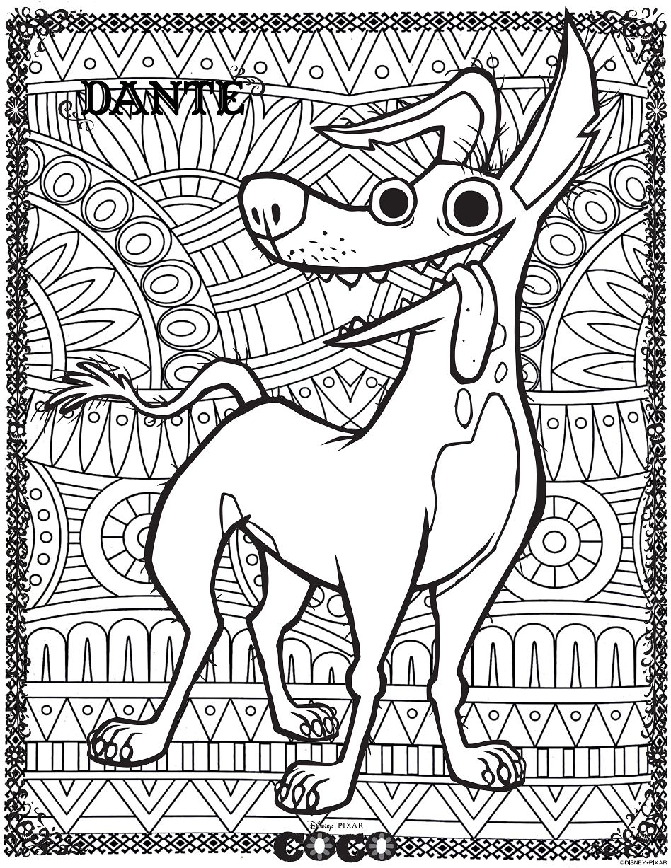 - Coco : Dante 2 - Return To Childhood Coloring Pages For Adults