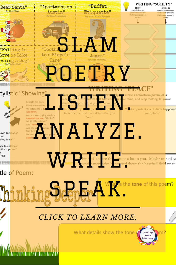 i think slam poetry is a neat way to express thoughts, ideas, and