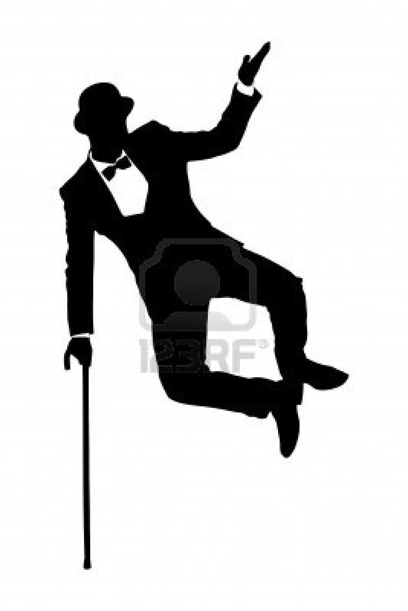 Silhouette Of A Man In Suit Holding A Cane And Dancing Isolated Dancer Silhouette Silhouette Ballet Silhouette