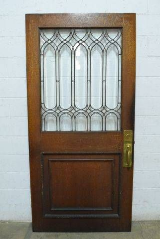 Leaded Glass Entry Door   Columbus Architectural Salvage