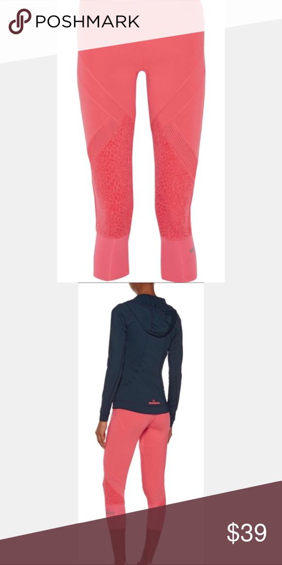 bfdcf782e8360 Stella McCartney Adidas 3/4 Starter Leggings, XS Stella McCartney Adidas  3/4 Starter Coral Leggings Size XS Printed stretch-polyester Drawstring  elasticated ...