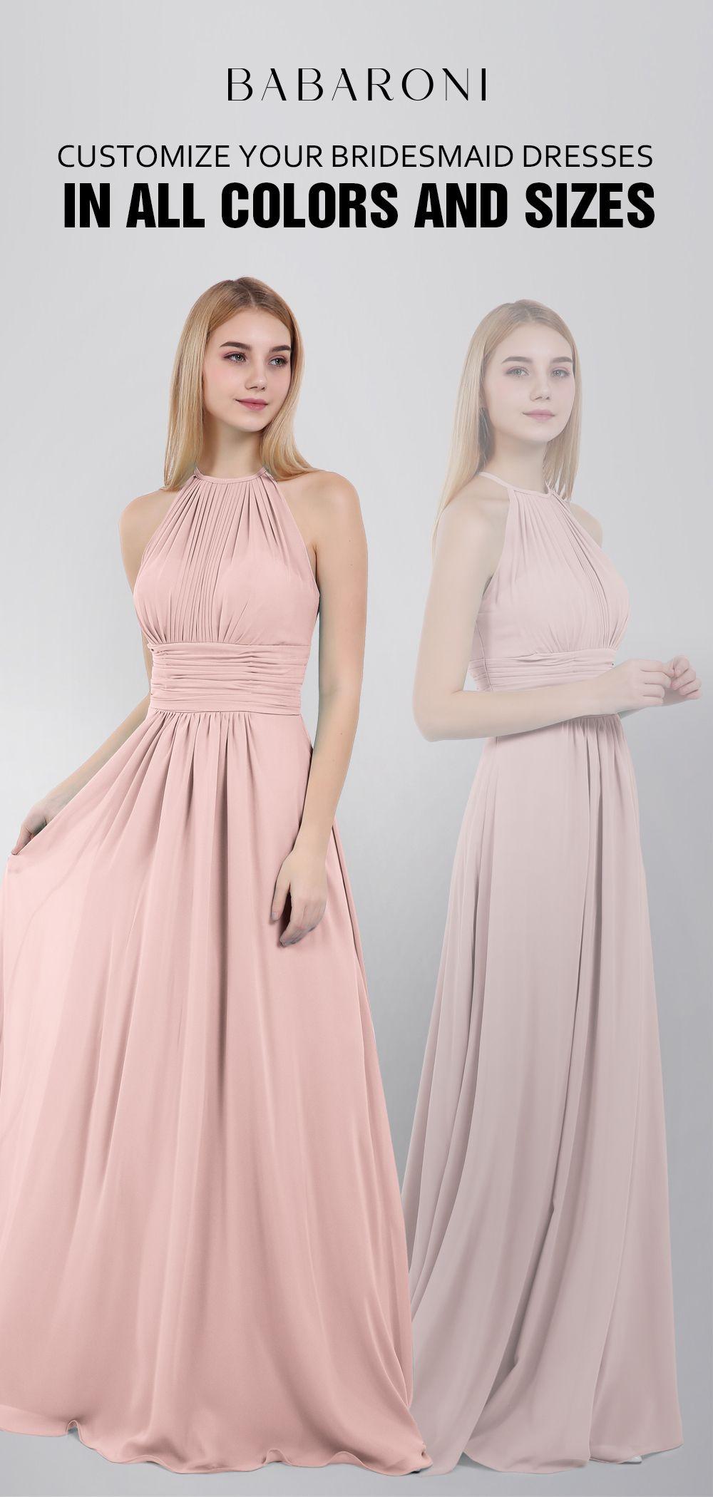 fed6b69c0c7b6 Halter Chiffon Maxi Dress of Bridesmaid #bridesmaid #bridesmaids  #junglegreen #babaroni #wedding #cheapbridesmaiddress #chiffon #girl  #fashion #weddings ...