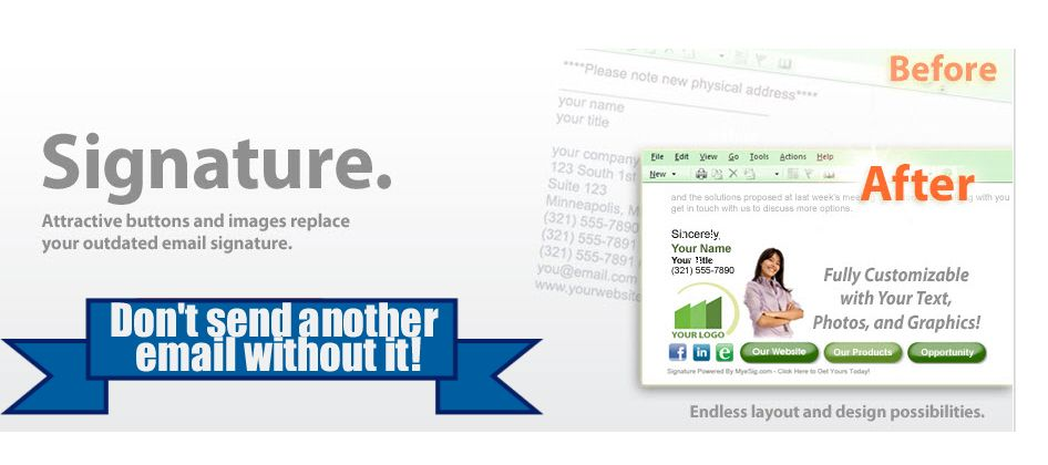 Best eMail Signature Tool - Worlds most powerful eMail Signature ...