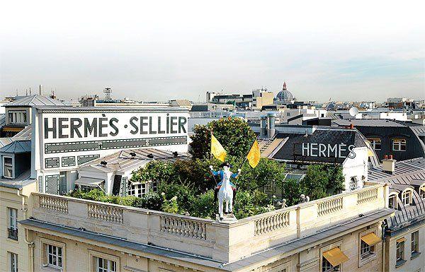 Hermes rooftop garden | Paris rooftops, Roof garden ...