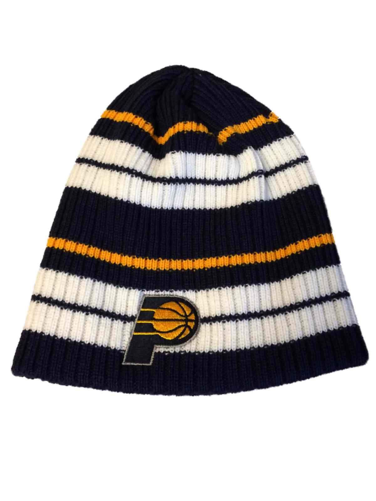 super popular 504c5 daecd ... where can i buy indiana pacers adidas navy white yellow striped acrylic knit  beanie hat cap