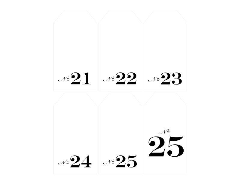 no-21-25 Autour du Papier Pinterest Christmas calendar, Free