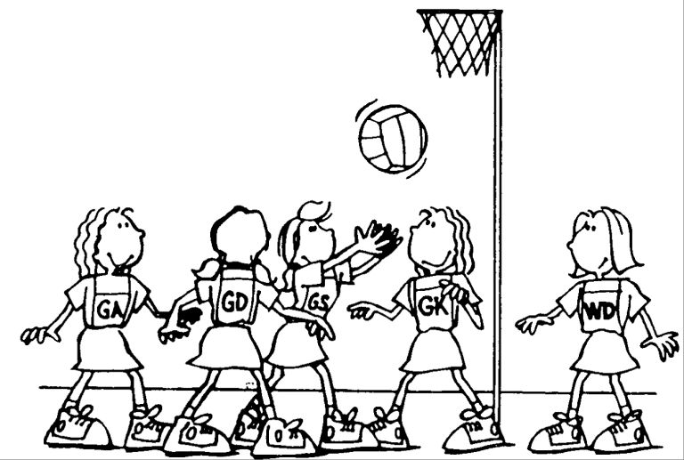 Image result for netball cartoon