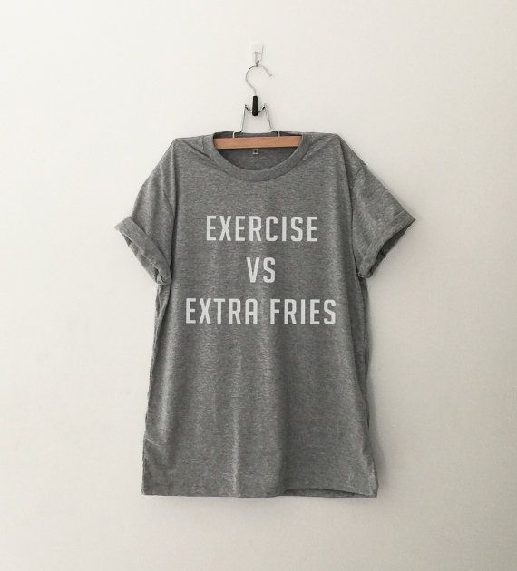8966dd3499 Exercise extra fries funny tshirt women workout shirt with saying tumblr graphic  tee women t-shirt b