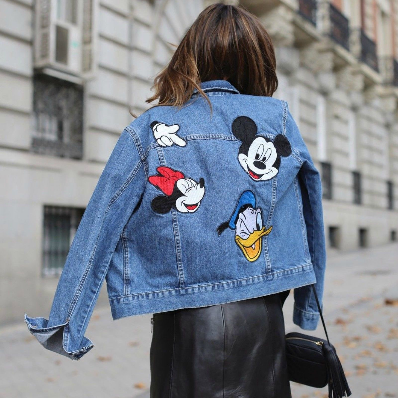 Image Result For Zara Mickey Denim Denim Jacket Patches