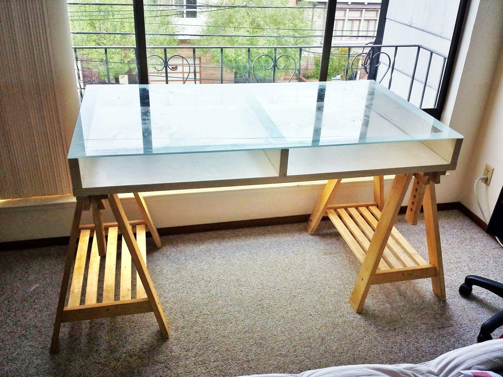 Magiker Adjustable Desk Ikea Hackers Ikea Desk Ikea Glass Table Top Ikea Glass Table