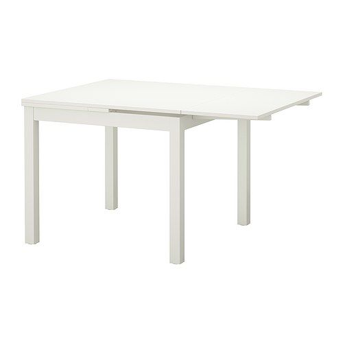 White Dining Table Ikea: BJURSTA Extendable Table, White
