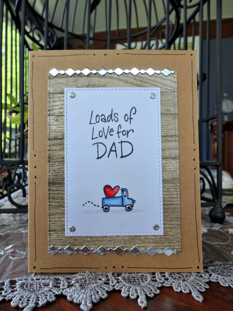 Truck Card, Happy Birthday Dad, Happy Fathers Day, Guy