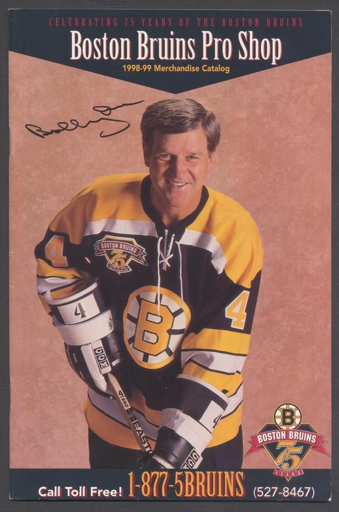 new concept 2c6a3 3f048 1998-99 boston bruins nhl hockey merchandise catalog bobby ...