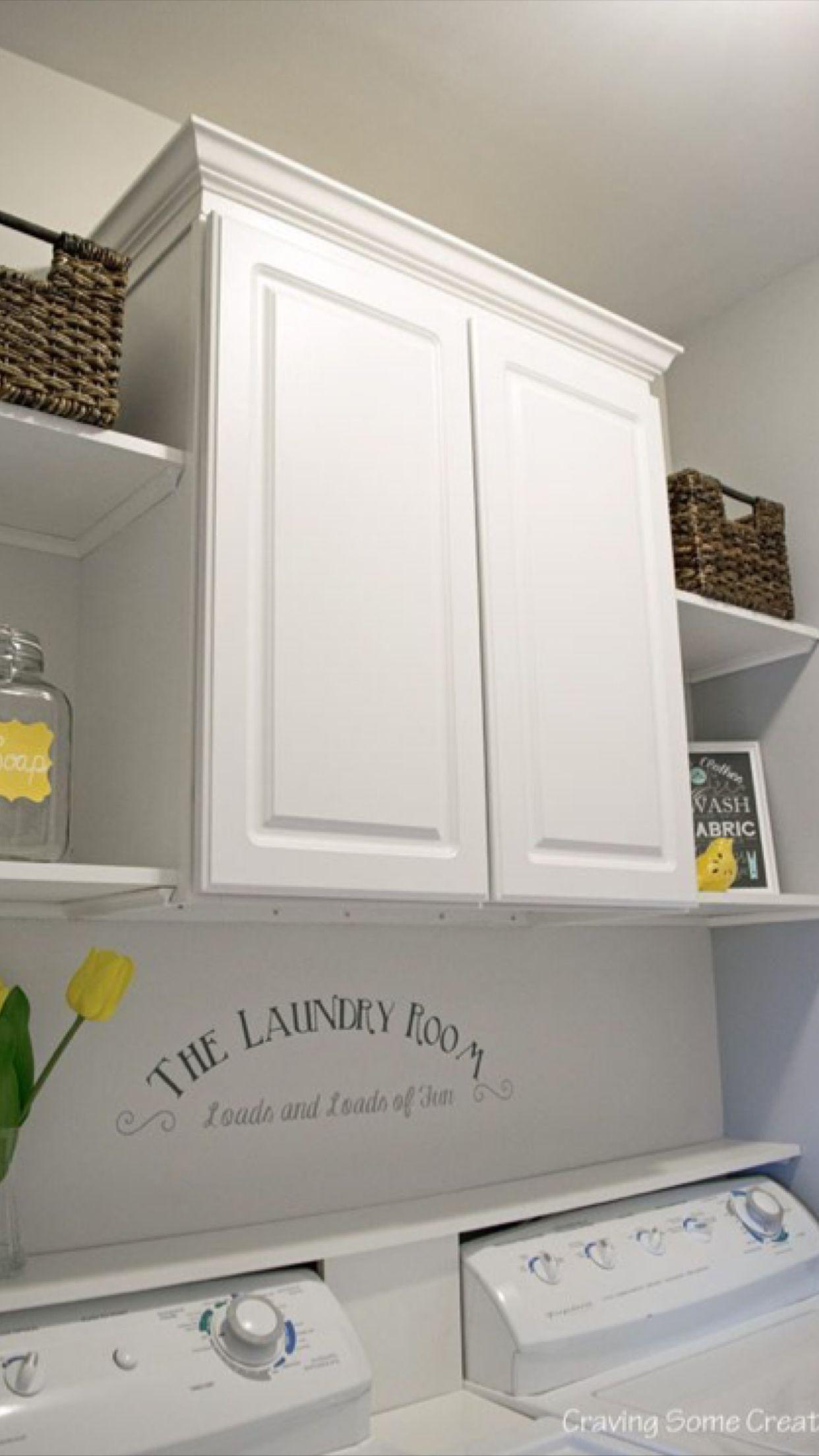 DIY Laundry Room Storage Shelves Ideas 6 Cuarto de lavar
