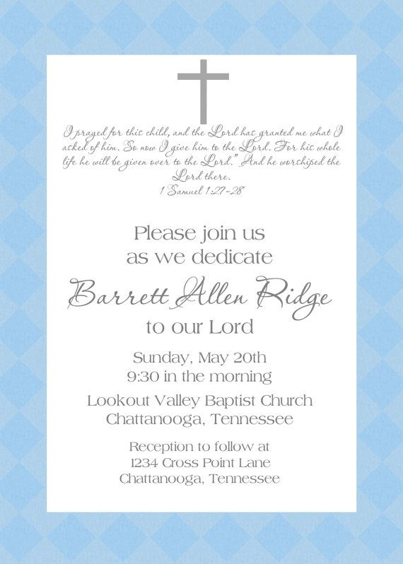Baby Dedication Invitation Babies