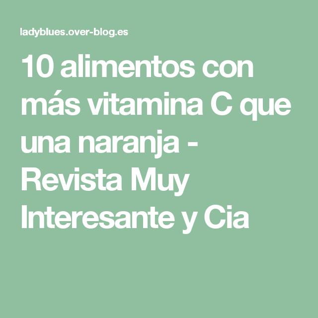 Mas los vitamina c alimentos con 10