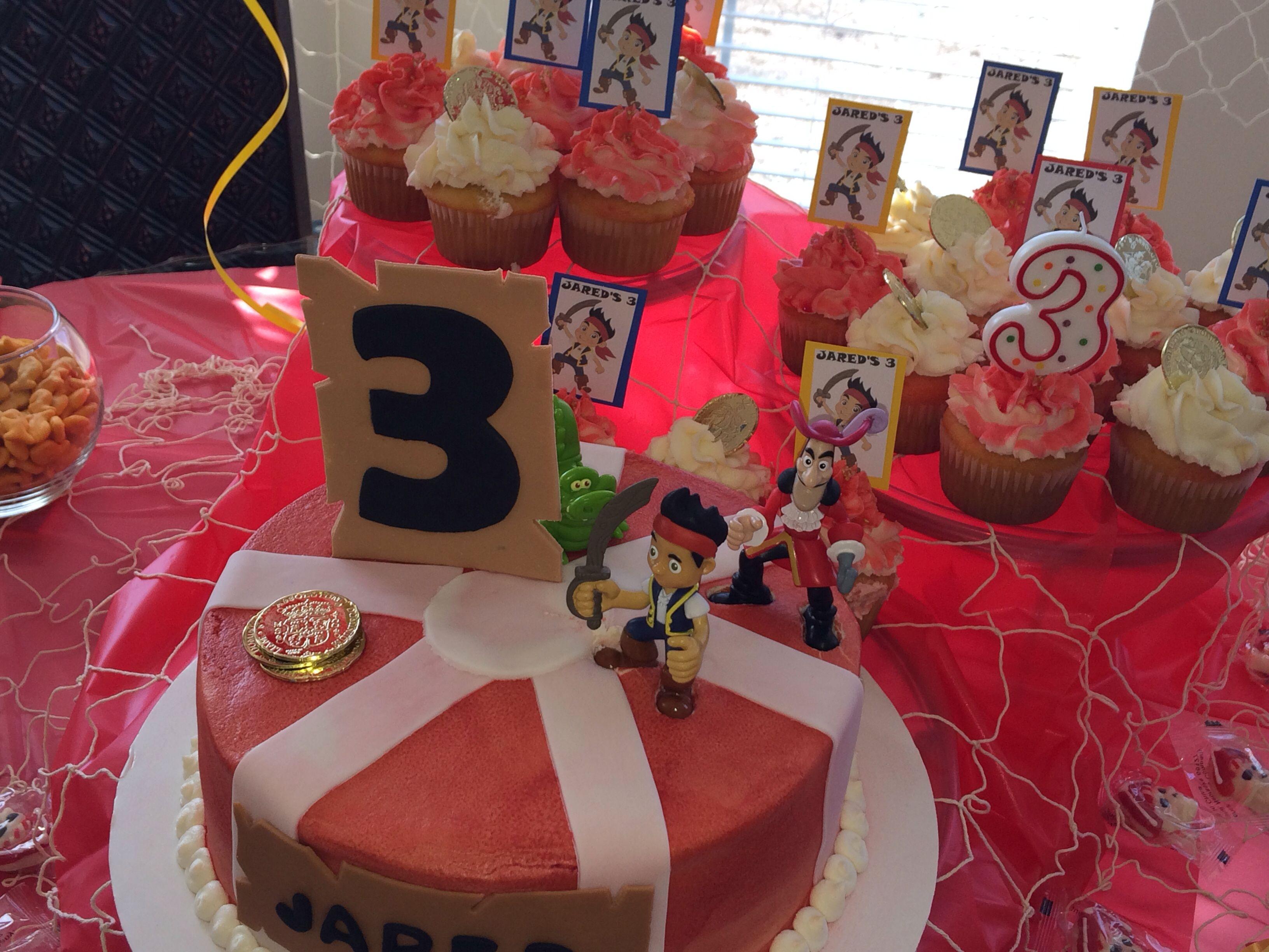 Jareds cake with images cake pirate party birthday cake