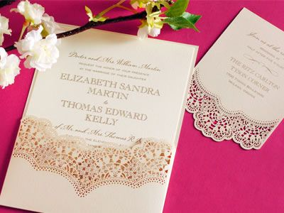 Beautiful laser cut out wedding invitations that look like lace beautiful laser cut out wedding invitations that look like lace hyegraph invitations and calligraphy stopboris Choice Image