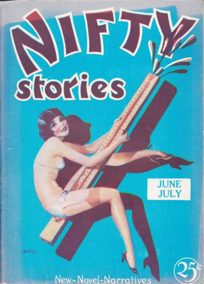 Jun Jul  Nifty Stories Vintage Magazine Cover Book Cover Art Comic Book Covers