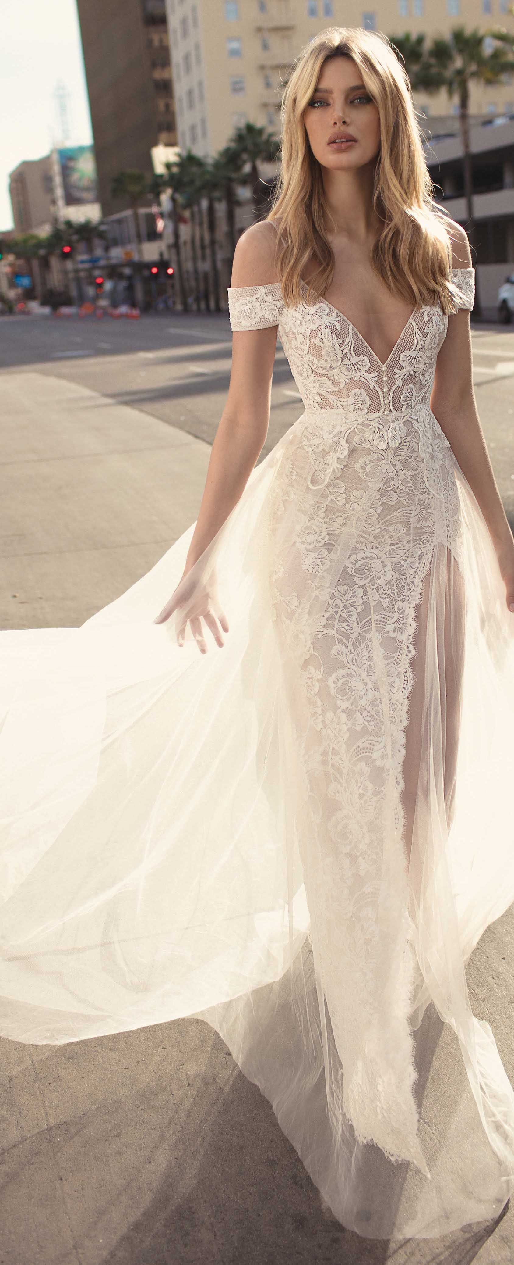 Wedding dress from muse by berta lace fitted bridal gown with cold
