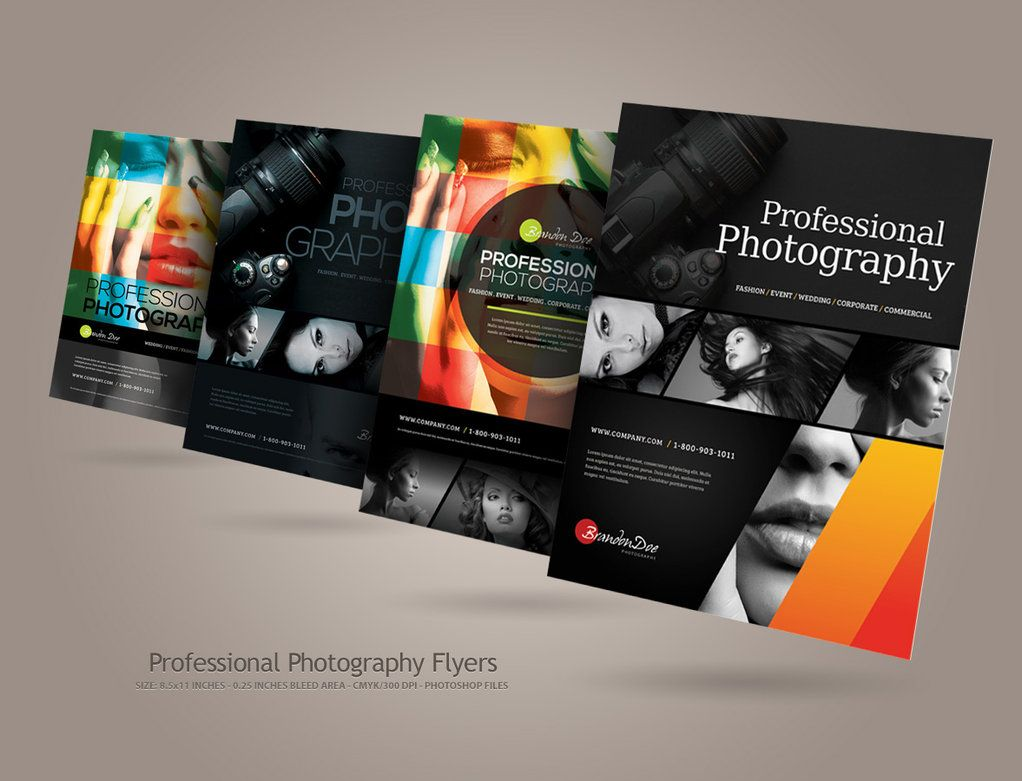 Nice Layout  Professional Photography Flyers By Kinzi On