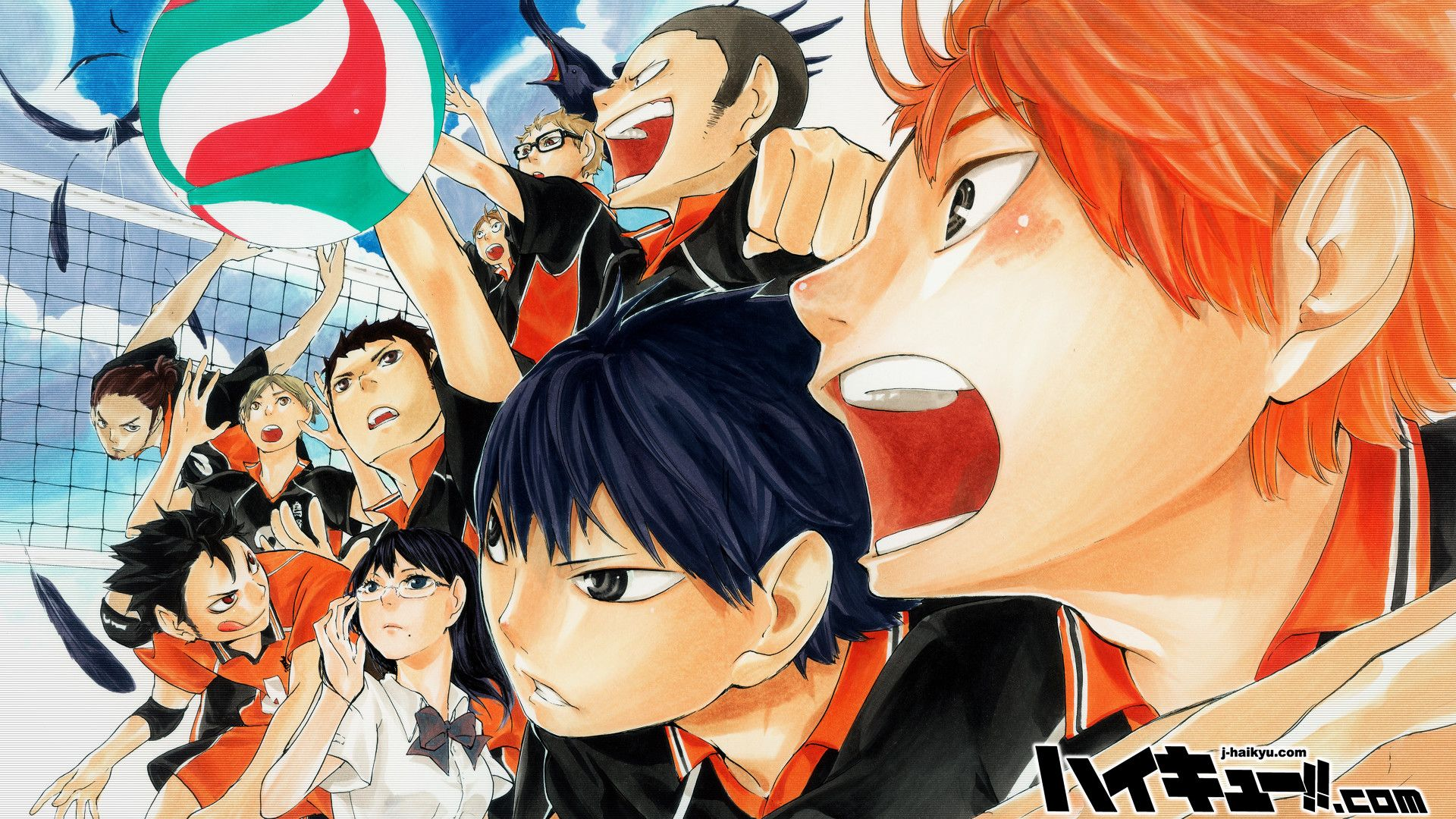 1920x1080 Karasuno High Volleyball Team Haikyuu Anime Haikyuu Anime Anime Haikyuu