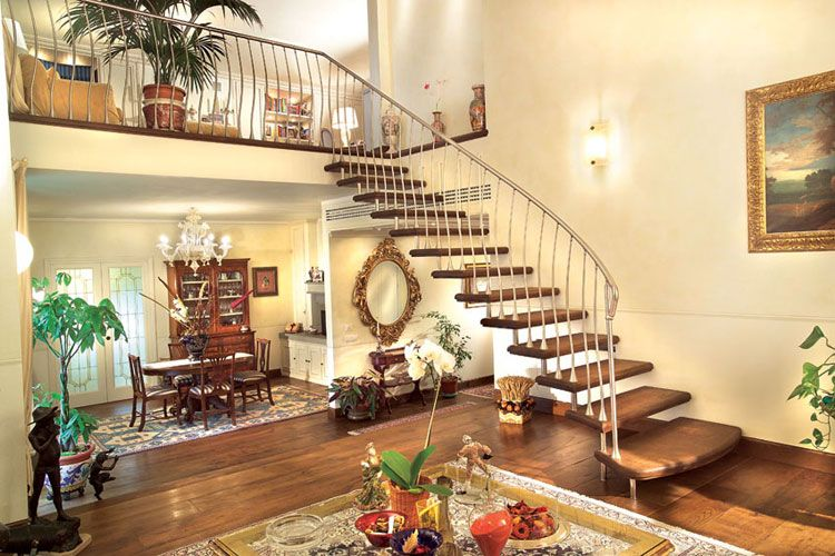 Best Double Curved Staircase Cost Bing Images Escaleras 400 x 300
