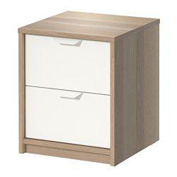 Guardaroba Hopen Ikea.Askvoll 2 Drawer Chest White Stained Oak Effect White