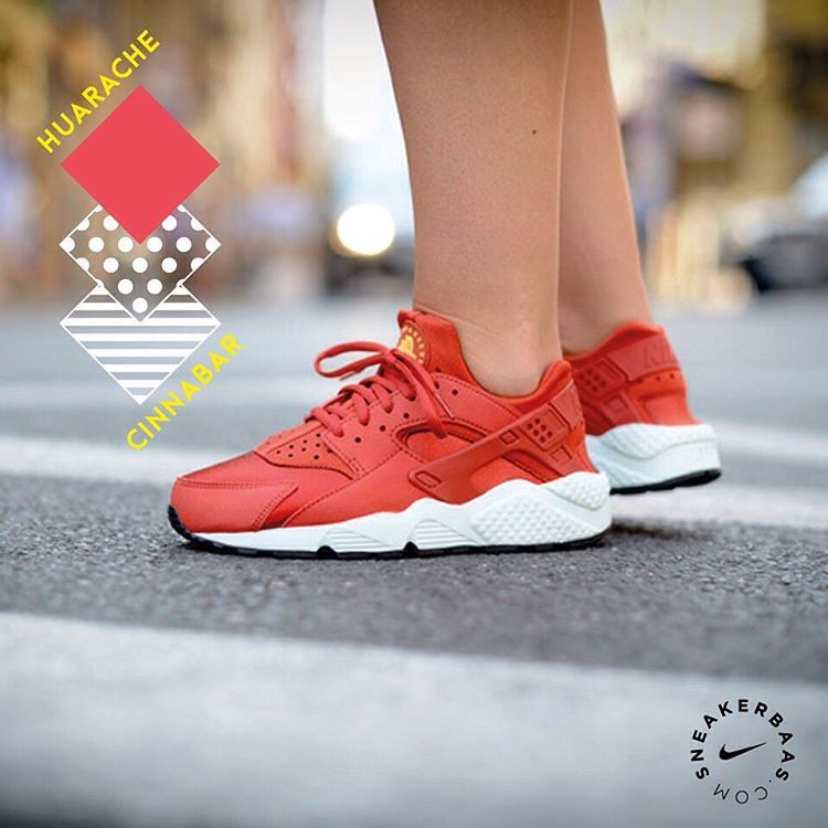 #nike #nikeair #huarache #cinnabar #sneakerbaas #baasbovenbaas  Nike Air Huarache Cinnabar- This new edition has a full Cinnabar Red color on the sneaker, combining great looks with great comfortability!  Now available! | Priced at 119.95 EU | Wmns Sizes 35.5- 44.5 EU