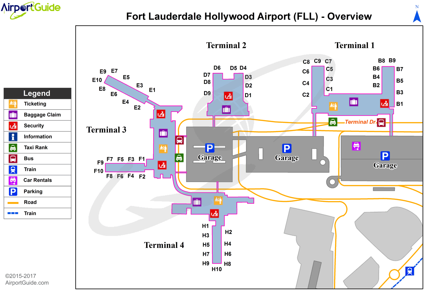 Fll Terminal Map Fort Lauderdale   Fort Lauderdale/Hollywood International (FLL