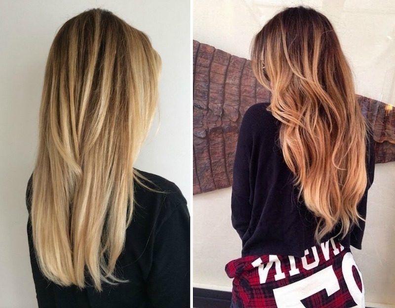 balayage,ombré,blond,caramel,cheveux,longs,lisses
