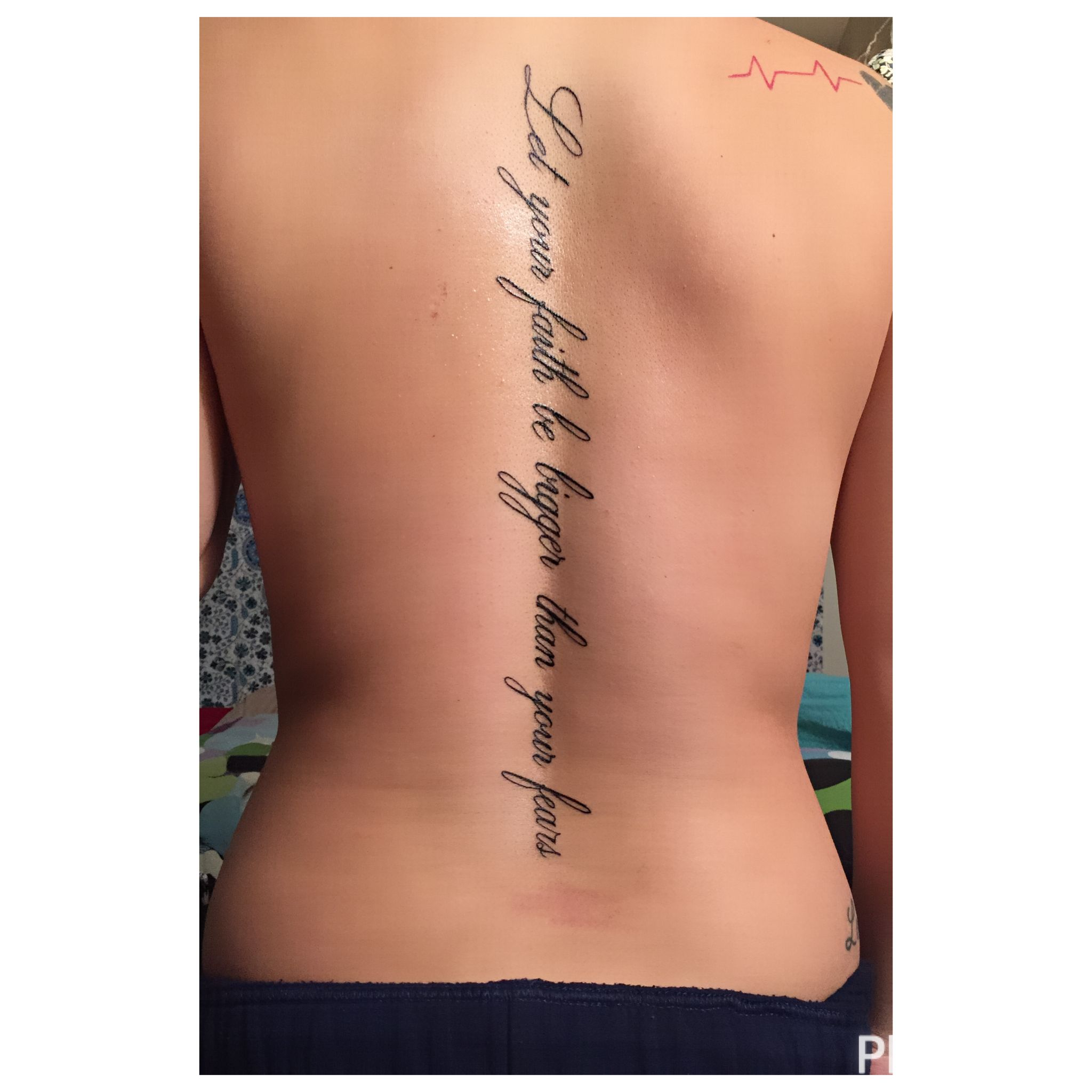 Spine Tattoo Quote Back Tattoo Let Your Faith Be Bigger Than Your