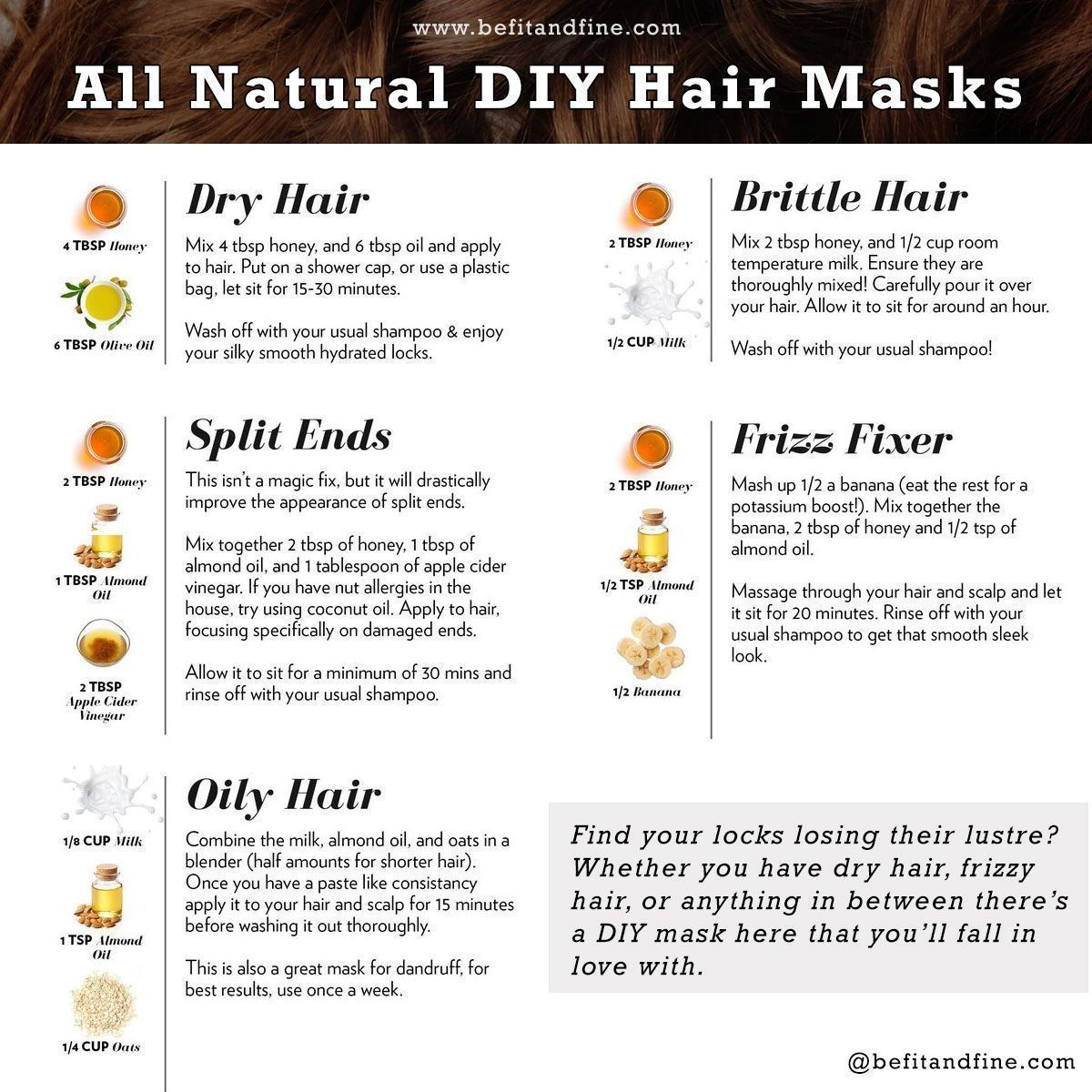 All Natural Diy Hair Masks Dry Hair Split End Oily Hair Brittle Hair Frizz Brittle Diy Dry Frizz Hair Mask For Damaged Hair Dry Hair Mask Dry Hair