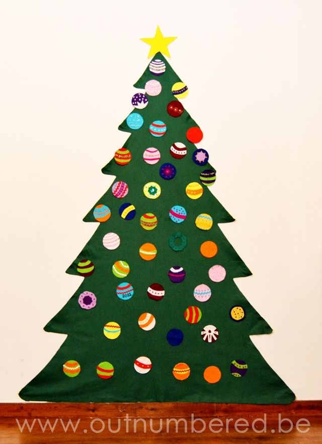 Felt Christmas Craft Ideas Part - 44: A Felt Christmas Tree Is The Perfect Answer When You Have Small Kids And  Few Space