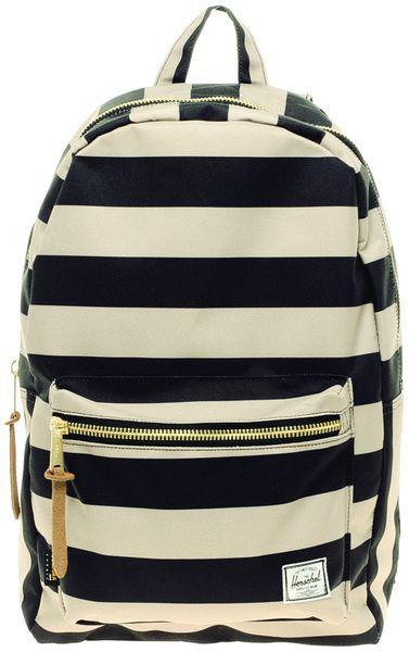 e875894d08 Herschel Supply Co. Stripe Settlement Backpack in Black for Men - Lyst
