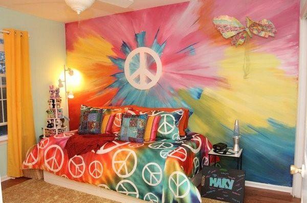 Tie Dye Walls Hippy Room Tie Dye Wall Wall Painting